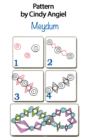 Easy Tangle Pattern Meydum - free from Cindy Angiel