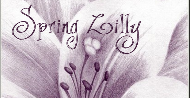 Easter Lilly sketch by Cindy Angiel