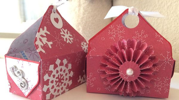 Treat Boxes Using Envelope punch board