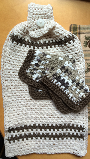 dish towel and wash cloth - crochet