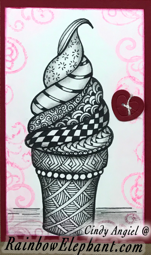 Tangled Ice Cream Cone by Cindy Angiel