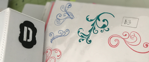 Flourish Stamps in Index Page