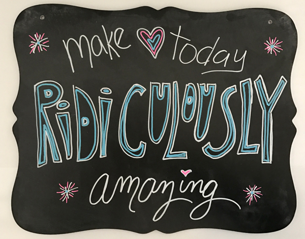 Amazing Day Chalk Board